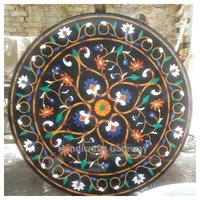 Amazing Marble Inlay Work Round Dining Table Top