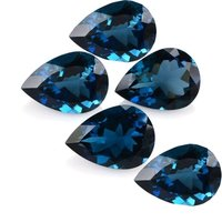 7x10mm London Blue Topaz Faceted Pear Loose Gemstones