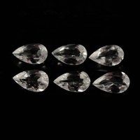 5x8mm White Topaz Faceted Pear Loose Gemstones