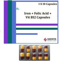 Iron + Folic Acid + Vit B12 Capsules