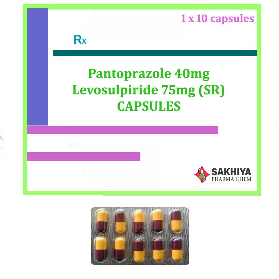 Pantoprazole 40mg + Levosulpiride 75mg (SR) Capsules