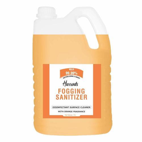 Harrods Disinfectant Liquid Fogging Sanitizer Orange For Car, Home, Offices, Hospitals, 5L Can Age Group: Women