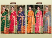 Kajal By Sangam Prints Silk Weaving Party Wear Sarees