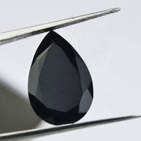 7x10mm Black Onyx Faceted Pear Loose Gemstones