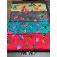 Multicolour Cambric Cotton Fabric