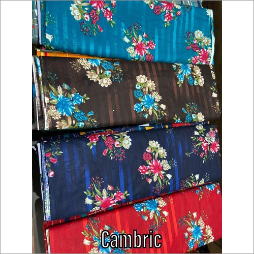 Floral Print Cambric Cotton Fabric