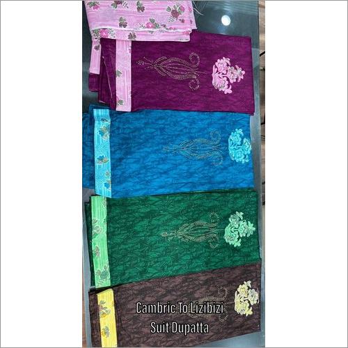 Multi Colour Cambric Print Suit Dupatta