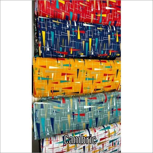 Multi Color Cambric Cotton Fabric
