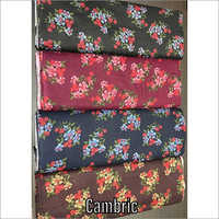 Floral Print Cambric Fabric