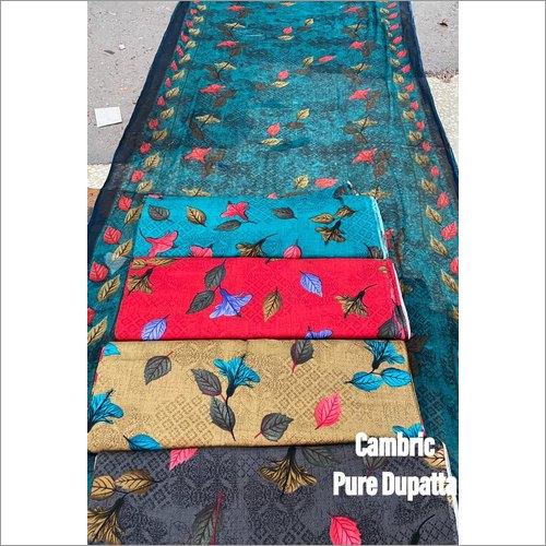 Cambric Pure Dupatta Unstiched Suit