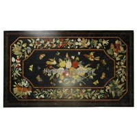 Handmade Marble With Different Different Stone Inlay Design Table Top For Dining Room