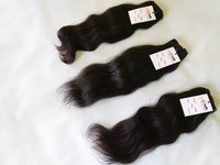 Cuticle Aligned Single Donor Indian Temple Raw Unprocessed Wavy Human Hair Vendors