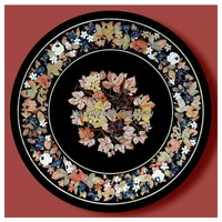 Manufacture Regular Inlay Design Marble Dining Table Top