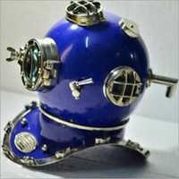 Blue Mark V Antique Diving Helmet