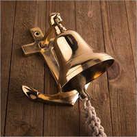 Brass Anchor Ship Bell Rope Nautical Wall Decor