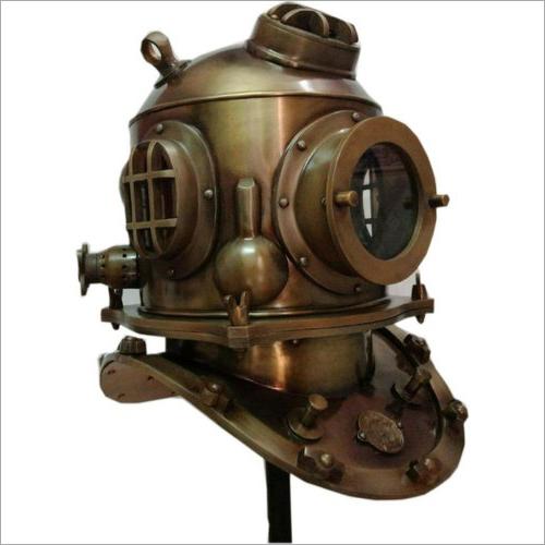Vintage Full Size US Navy Mark V Diving Divers Helmet