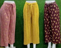 Women's Wear Plazzo Fancy Fabric