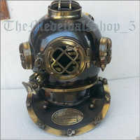 US Navy Mark V Antique D3 Mart Diving Divers Helmet