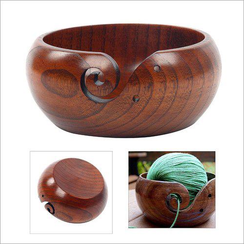 D3 MART Rosewood Kitchen Wooden Yarn Bowl