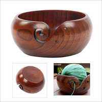 D3 MART Rosewood Kitchen Wooden Yarn Bowl