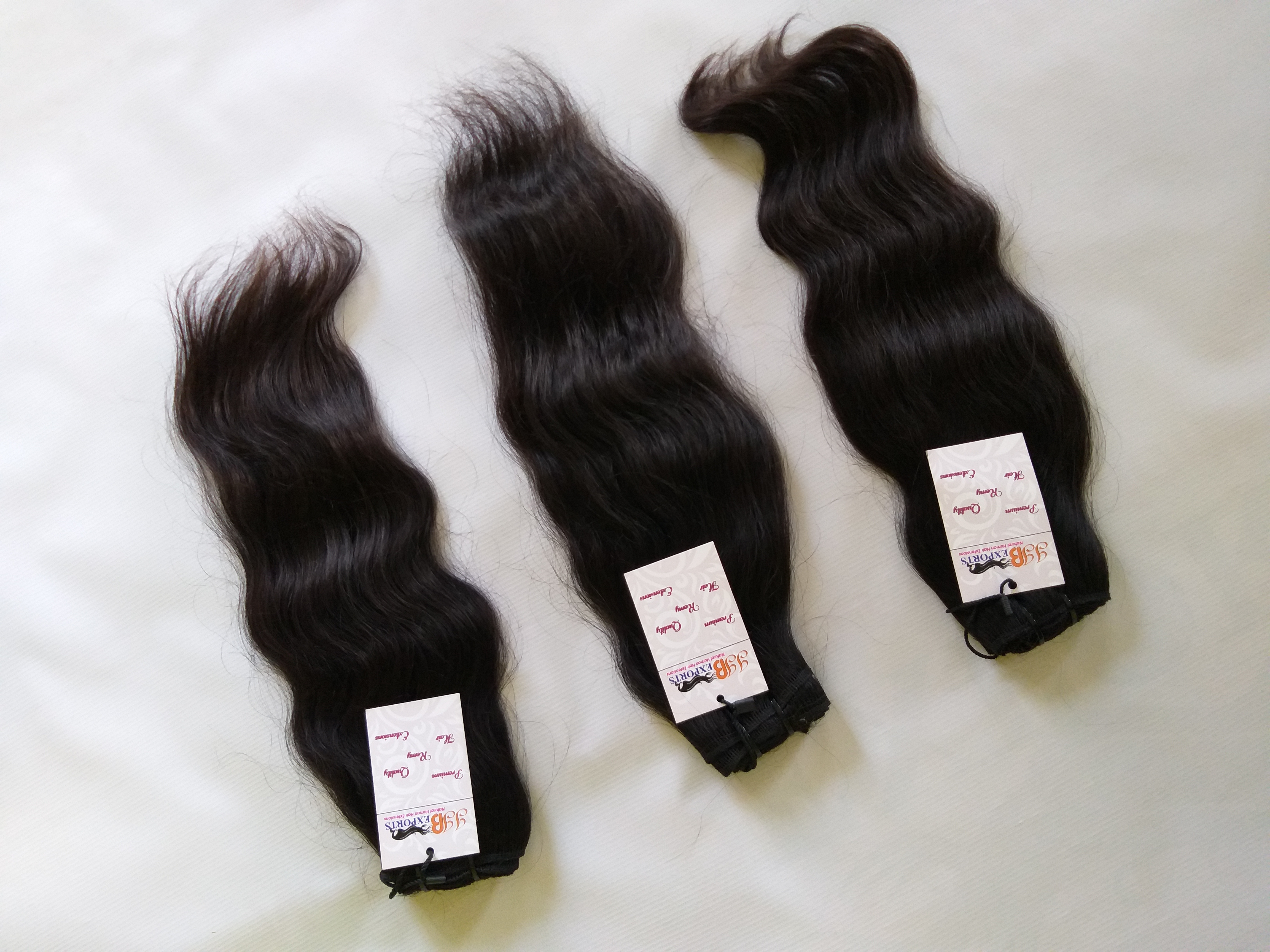 Cuticle Aligned Virgin Raw Mink Indian Natural Wavy Machine Weft Human Hair