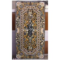 Antique Marble Pietra Dura Inlay Dining Table Top