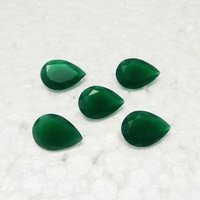 5x8mm Green Onyx Faceted Pear Loose Gemstones