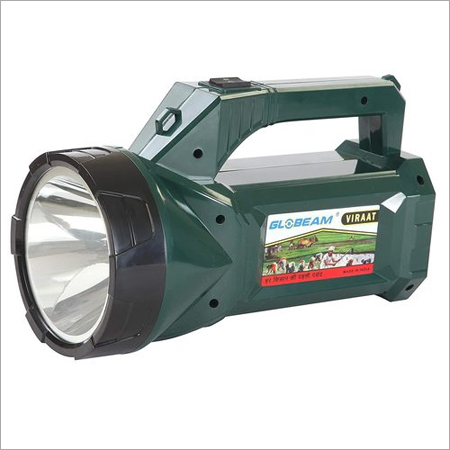 GLOBEAM Viraat Kisan Long Range Torchlight with 4500 mAh Battery (8 to 10 Hours Backup) with Charger (Included) and Belt for Easy Carry