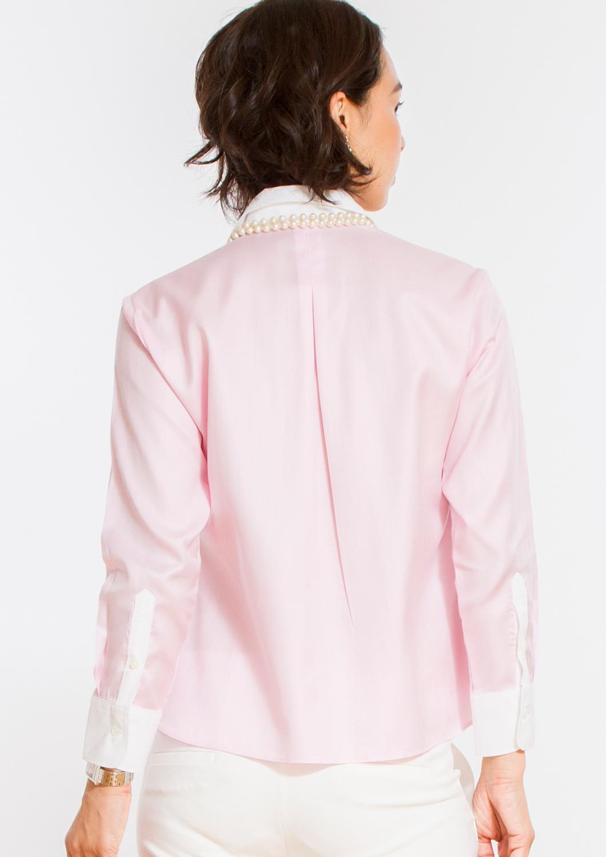 Non Iron Bracelet-Length Sleeve Untucked Shirt Pink