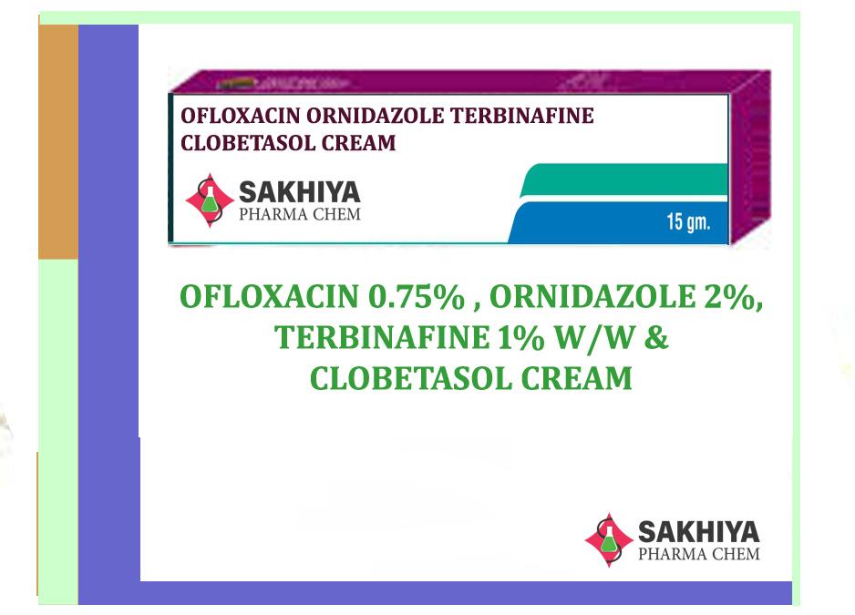 Ofloxacin Ornidazole Terbinafine Clobetasol Cream