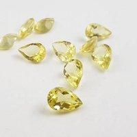 3x5mm Lemon Quartz Faceted Pear Loose Gemstones