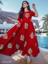 Women  Rayon Kurtis/Gown