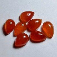 5x8mm Carnelian Pear Cabochon Loose Gemstones