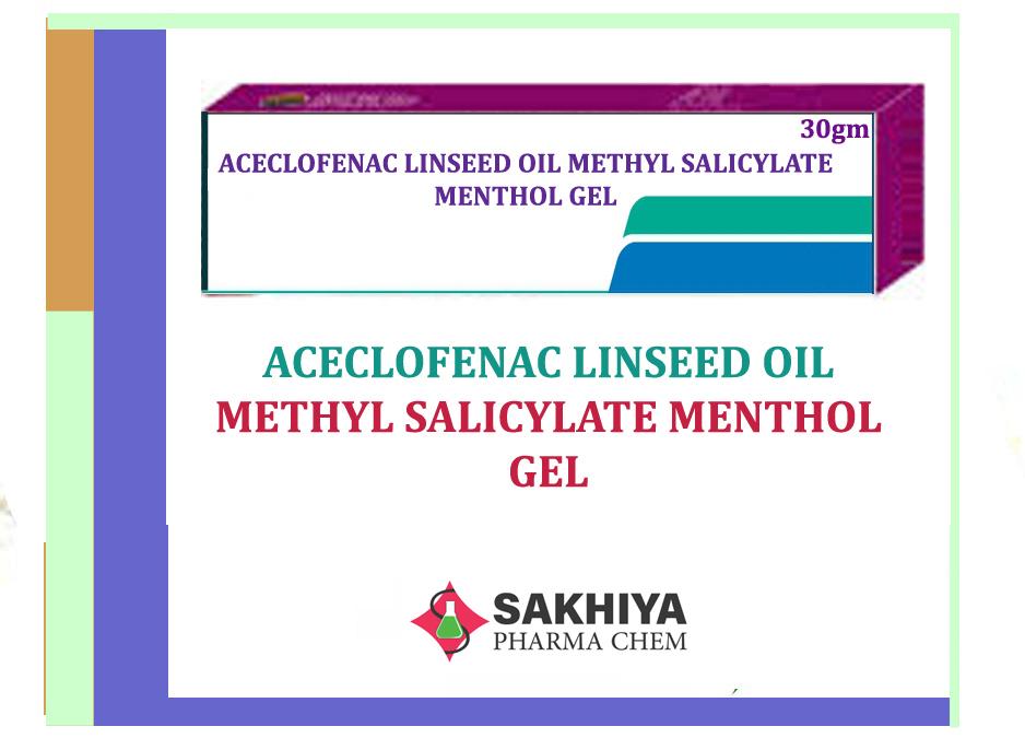 Aceclofenac Linseed Oil Methyl Salicylate Menthol Gel