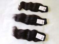 Cuticle Aligned Single Donor Indian Temple Raw Wavy Human Hair Weave Bundles Extensions