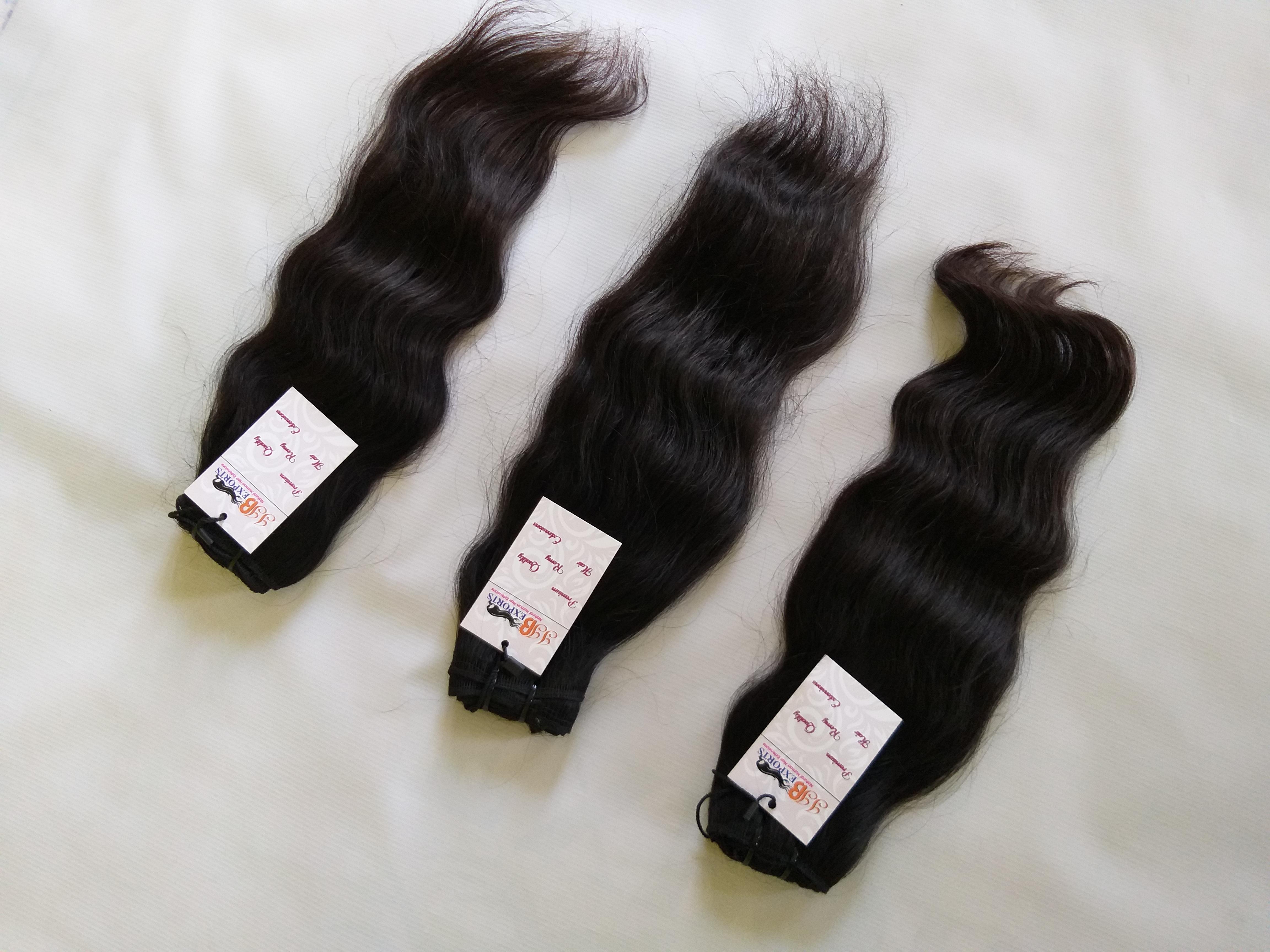 Raw Indian Wavy Unprocessed Temple Virgin Human Hair Vendor Natural Wholesale Bundle