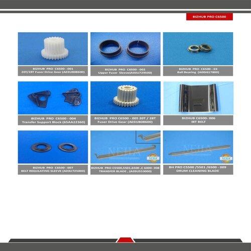 Konica Minolta Bizhub Pro C6500 Spare Parts