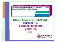 Diclofenac Linseed Oil Thiocolchicoside Menthol Gel