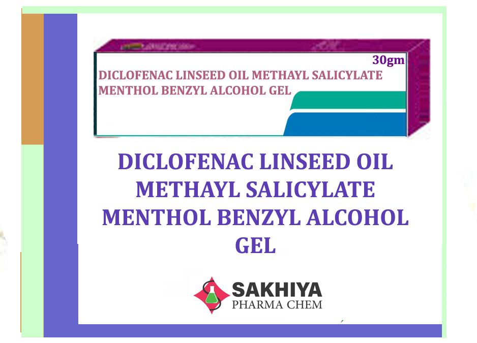 Diclofenac Linseed Oil Methayl Salicylate Menthol Benzyl Alcohol Gel