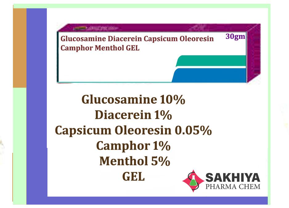 Glucosamine  Diacerein Capsicum Oleoresin Camphor Menthol Gel