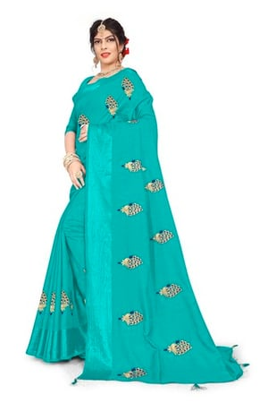 New Stylish Embroidery  Work Sarees