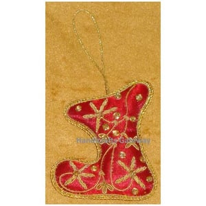 Hand Embroidery Christmas Stocking Ornaments