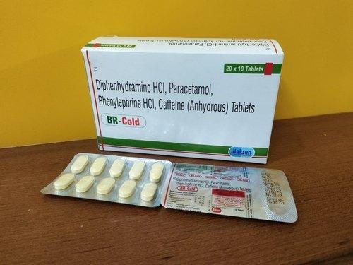 Diphenhydramine Hydrochloride Paracetamol Effervescent Tablets