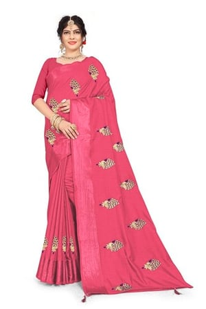New Fancy  Embroidery Work Saree