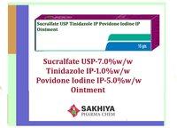 Sucralfate USP Tinidazole IP Povidone Iodine IP Oinment