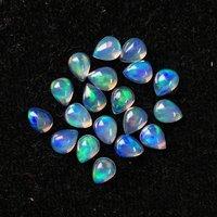 3x5mm Ethiopian Opal Pear Cabochon Loose Gemstones