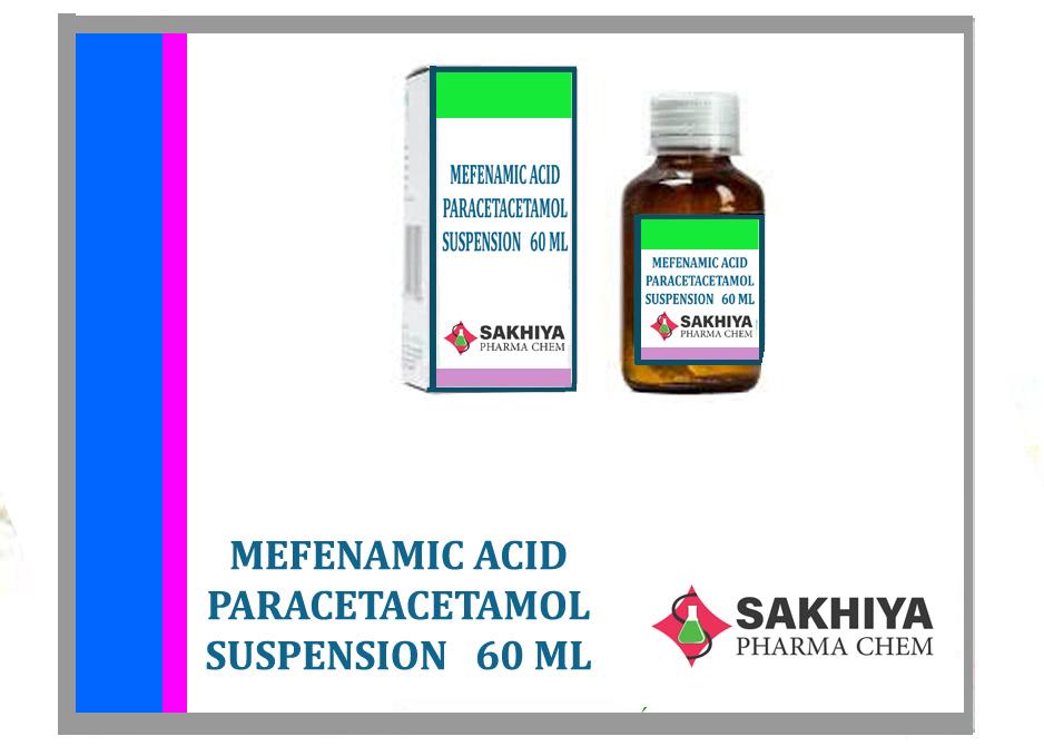Mefenamic Acid Paracetamol 60ml Suspension