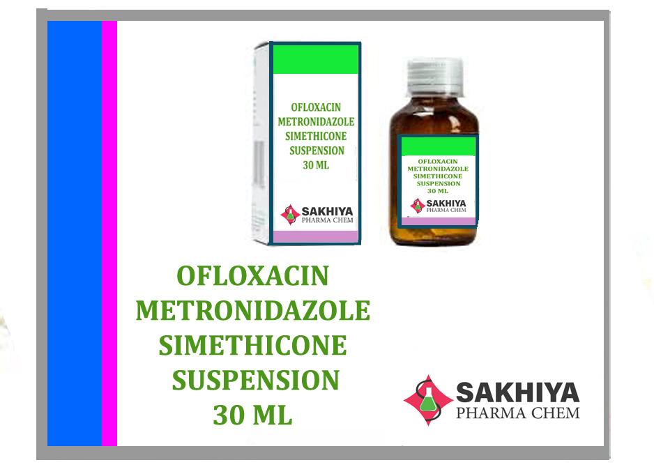 Ofloxacin + Metronidazole + Simethicone 30ml Suspension
