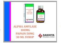 Alpha Amylase (1.2000) 100mg Papain 50mg Syrup