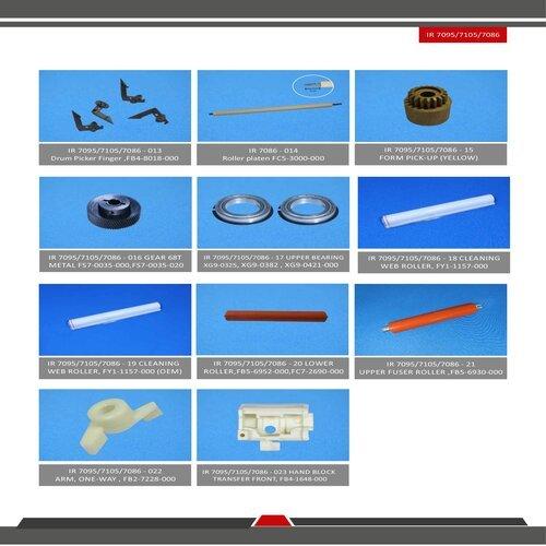 Ir 7086 / 7095 / 7105 Spare Parts